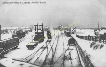 Andover Junction Railway Station Photo. Hurstbourne to Grateley and Claford. (3)