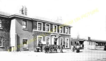 Andover Junction Railway Station Photo. Hurstbourne to Grateley and Claford. (5)