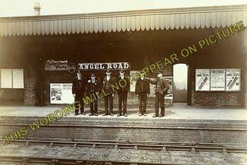 Angel Road Railway Station Photo. Wood Green to Ponder's End & Edmonton Line (2)