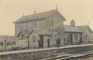 Angerton Railway Station Photo. Meldon - Middleton. Morpeth to Scotsgap Line (2).