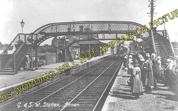 Annan Railway Station Photo. Dornock - Cummertrees. Gretna to Dumfries Line. (1)..