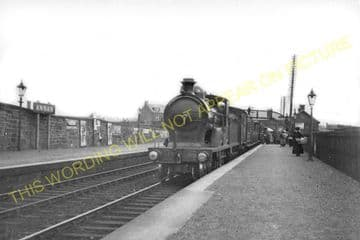 Annan Railway Station Photo. Dornock - Cummertrees. Gretna to Dumfries Line. (4)
