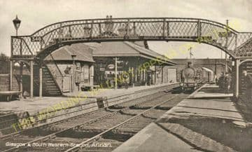 Annan Railway Station Photo. Dornock - Cummertrees. Gretna to Dumfries Line. (5)