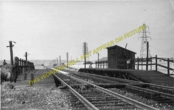 Annesley South Junction Railway Station Photo. Newstead - Linby. (1)..