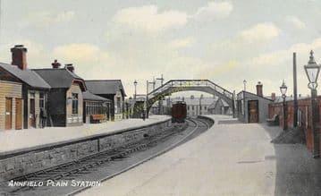 Annfield Plain Railway Station Photo. Consett - Beamish. Pelton Line. (2)