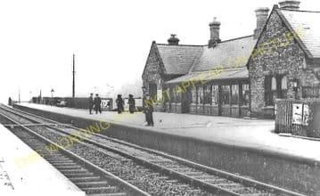 Annitsford Railway Station Photo. Killingworth - Cramlington. Morpeth Line. (1).