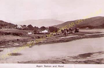 Appin Railway Station Photo. Creagan - Duror. Connel Ferry to Ballachulish. (5)