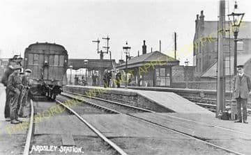 Ardsley Railway Station Photo. Lofthouse & Outwood - Tinsley. Great Northern (2)