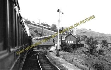 Argoed Railway Station Photo. Blackwood - Markham Village. Tredegar Line. (1)..