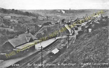 Argoed Railway Station Photo. Blackwood - Markham Village. Tredegar Line. (2)