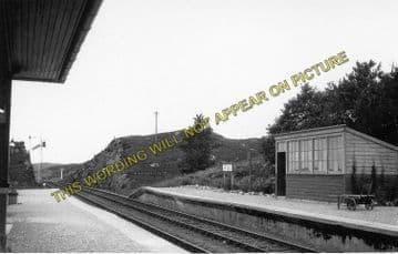 Arisaig Railway Station Photo. Bleasdale - Morar. Fort William to Mallaig. (2)