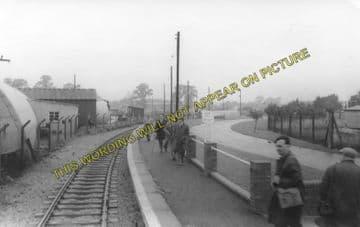 Arncott Railway Station Photo.  Wendlebury - Piddington. Military Railway. (1)