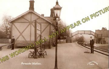 Arnside Railway Station Photo. Grange-over-Sands to Sandside Line. (2)