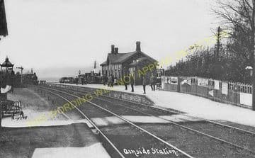 Arnside Railway Station Photo. Grange-over-Sands to Sandside Line. (5)