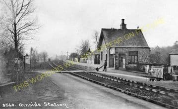 Arnside Railway Station Photo. Grange-over-Sands to Sandside Line. (8)