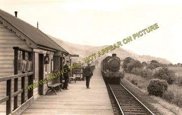 Arthog Railway Station Photo. Dolgelly to Barmouth & Fairbourne Lines. (1)..