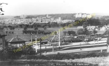 Arundel Railway Station Photo. Ford Jct - Amberley. Pulborough Line. LB&SCR (8)