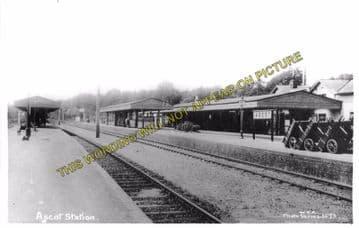 Ascot & Sunninghill Railway Station Photo. Bracknell - Sunningdale. L&SWR (12)