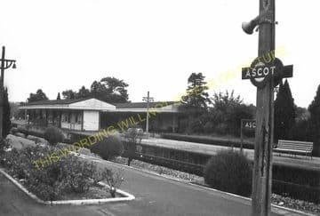 Ascot & Sunninghill Railway Station Photo. Bracknell - Sunningdale. L&SWR (19).