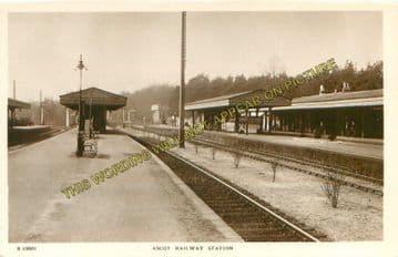 Ascot & Sunninghill Railway Station Photo. Bracknell - Sunningdale. L&SWR (2)