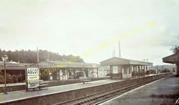 Ascot & Sunninghill Railway Station Photo. Bracknell - Sunningdale. L&SWR (20).