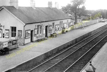 Ashbury Railway Station Photo. Okehampton - Hawill Junction & Beaworthy. (1)