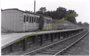 Ashdon Railway Station Photo. Bartlow - Saffron Walden. Audley End Line. (5)