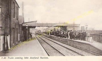 Ashford Railway Station Photo. Feltham - Staines. Twickenham Line. (1)..