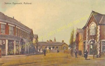 Ashford Railway Station Photo. Feltham - Staines. Twickenham Line. (5)