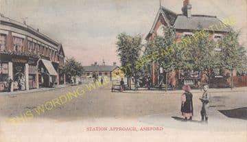 Ashford Railway Station Photo. Feltham - Staines. Twickenham Line. (6)
