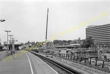 Ashford Railway Station Photo. Pluckley - Smeeth Line. SE&CR. (21).