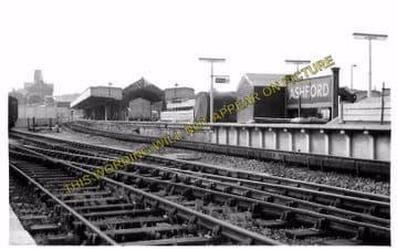 Ashford Railway Station Photo. Pluckley - Smeeth Line. SE&CR. (9)