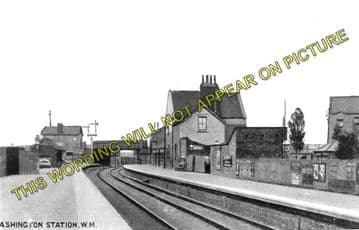 Ashington Railway Station Photo. Newbiggin - North Seaton. Bedlington Line (1)