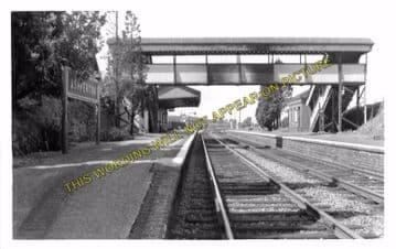 Ashperton Railway Station Photo. Ledbury - Stoke Edith. Hereford Line. (2).
