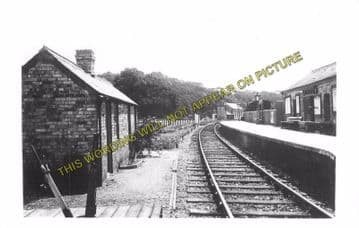 Ashton Railway Station Photo. Christow - Trusham. Exeter to Heathfield Line. (2)