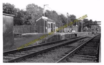 Ashurst Railway Station Photo. Groombridge - Cowden. Edenbridge Line. (4)