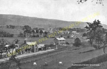 Askrigg Railway Station Photo. Hawes -Aysgarth. Hawes & Garsdale to Redmire. (2)