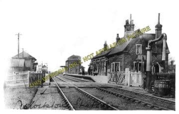 Aslockton Railway Station Photo. Elton & Orston - Bingham. Nottingham Line. (1)..