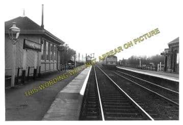 Aslockton Railway Station Photo. Elton & Orston - Bingham. Nottingham Line. (3)