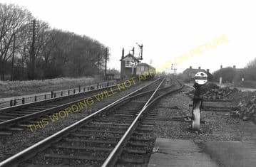 Aslockton Railway Station Photo. Elton & Orston - Bingham. Nottingham Line. (5)