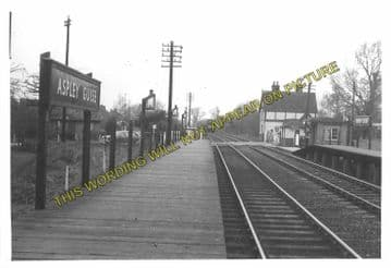 Aspley Guise Railway Station Photo. Woburn Sands - Ridgmont. Bletchley Line. (10)..