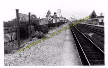 Athelney Railway Station Photo. Langport to Durston and Taunton Line. GWR. (5)