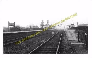 Athelney Railway Station Photo. Langport to Durston and Taunton Line. GWR. (6).