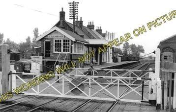 Attleborough Railway Statin Photo. Spooner Row - Eccles Road. Wymondham Line (1)..