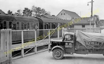 Attleborough Railway Statin Photo. Spooner Row - Eccles Road. Wymondham Line (4)