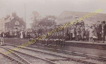 Attleborough Railway Statin Photo. Spooner Row - Eccles Road. Wymondham Line (5)