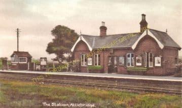 Attlebridge Railway Station Photo. Lenwade - Drayton. Norwich Line. M&GNR. (4)