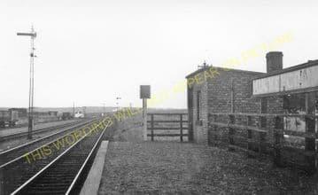 Auchengray Railway Station Photo. Cobbinshaw - Carnwath. Carstairs Line. (1).