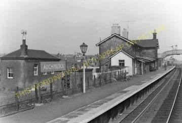 Auchinleck Railway Station Photo. Mauchline to Commondyke and Cumnock Lines (2)