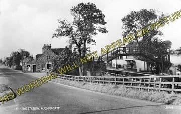 Auchnagatt Railway Station Photo. Arnage - Maud. Ellon to Fraserburgh Line. (1)
